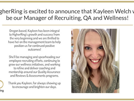 Kayleen Welch to Lead Recruiting, QA & Wellness