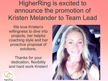 HigherRing Announces the Promotion of Kristen Melander
