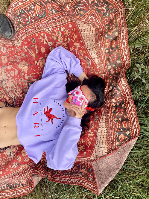 PAT Cropped Sweatshirt / Pale Purple