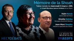 Table ronde : Mémoire de la shoah