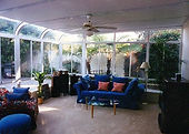 Patio room in Los Angeles, California