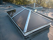 Custom skylights in Orinda, Cali, custom, tinted, glass