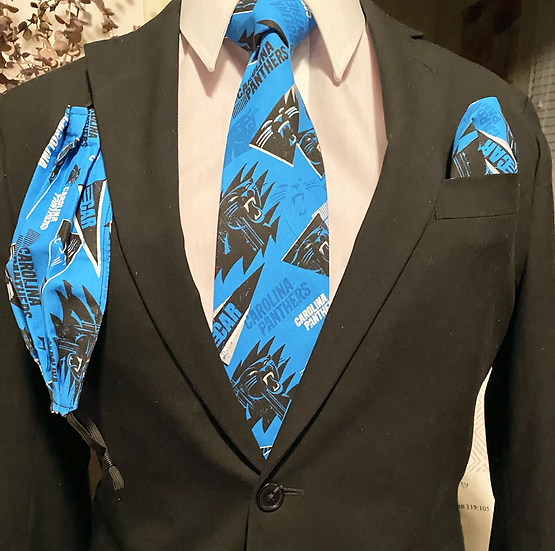 Panther Tie Set (blue)