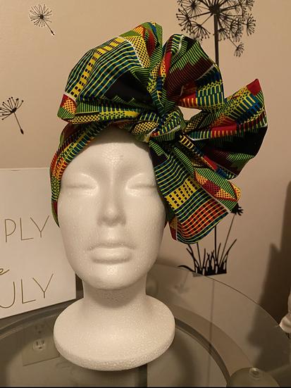 Kente cloth Head wrap