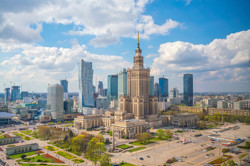 Landscape view of Warsaw City Center