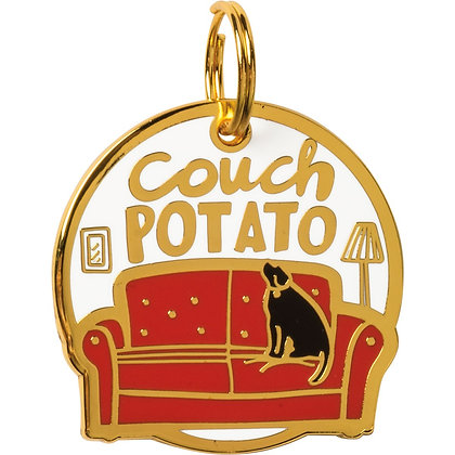 Couch Potato Collar Charm