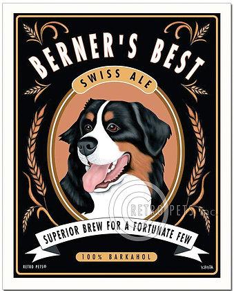 Berner's Best Bernese Mountain Dog Art Print