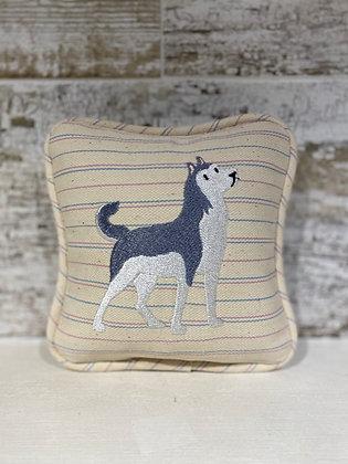 Siberian Husky Mini Pillow