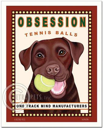Labrador Retriever Obsession Art Print