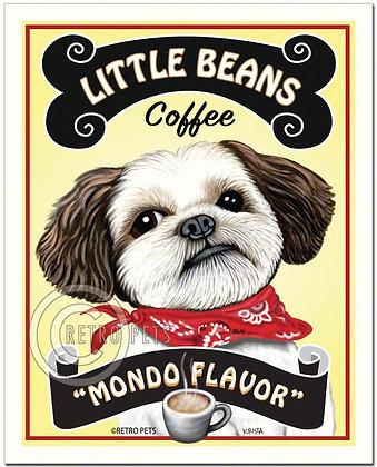 Little Beans Coffee Shih-Tzu Art Print
