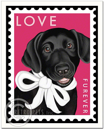 Labrador Furever Stamp Art Print