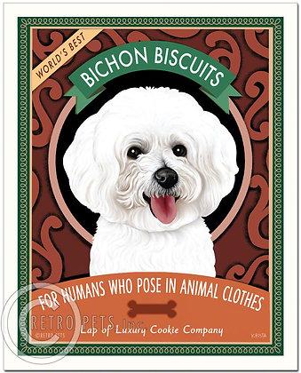 Bichon Biscuits Art Print