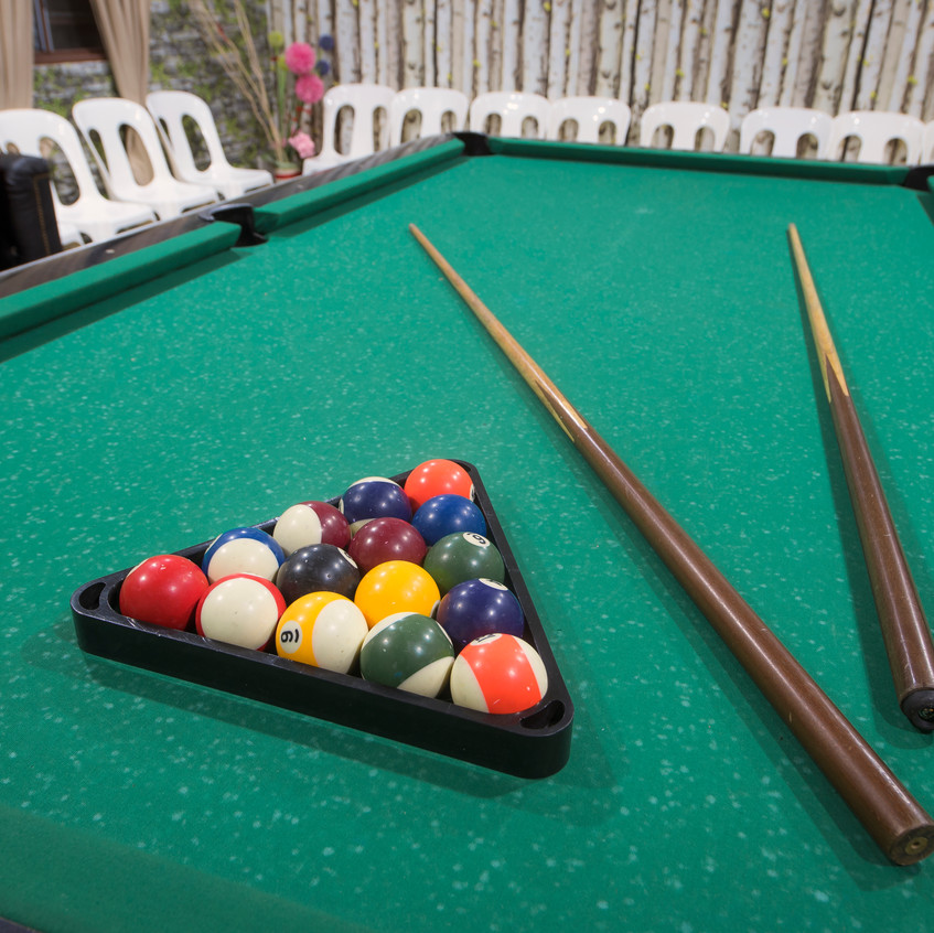 Pool Table At Sinar Eco Resort