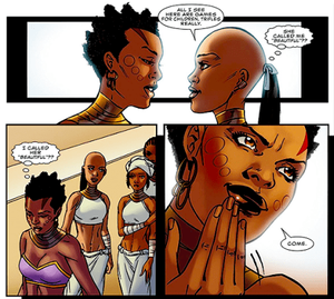 Extract from Black Panther Comic Book- Ayo's love story
