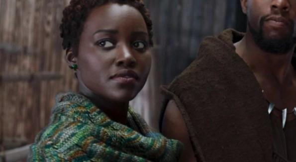 Lupita Nyong'o as Nakia in Disney/Marvel's Black Panther
