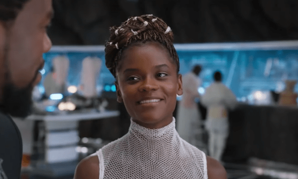 Letitia Wright as Shuri in Disney/Marvel's Black Panther