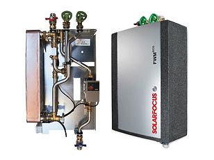 Módulos de água quente Solar Focus