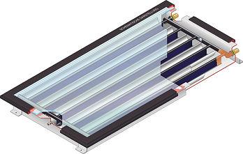 Coletor CPC Solar Focus