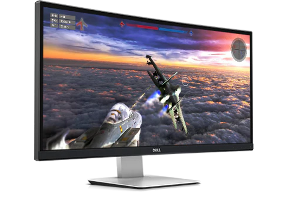 "DELL -34"" WQHD Curved Screen LED LCD Monitor"
