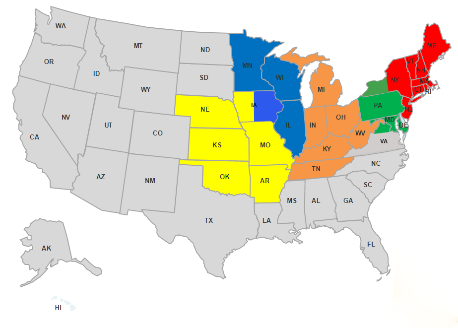 2020 PFT Territory Manager Map no legend