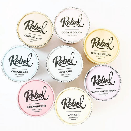 Rebel Ice Cream - 8 Flavor Options
