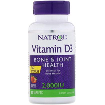 Natrol Vitamin D3 2,000 IU Fast Dissolving