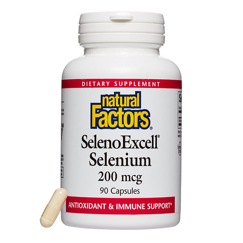 Natural Factors SelenoExcell Selenium 200mcg