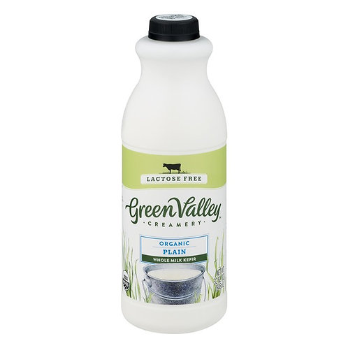 Green Valley Creamery Organic Plain Whole Milk Kefir - Lactose Free