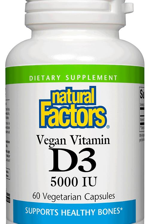 Natural Factors Vegan Vitamin D3 5000 IU