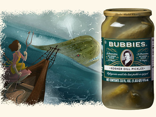 Bubbies Large Kosher Dill Pickles