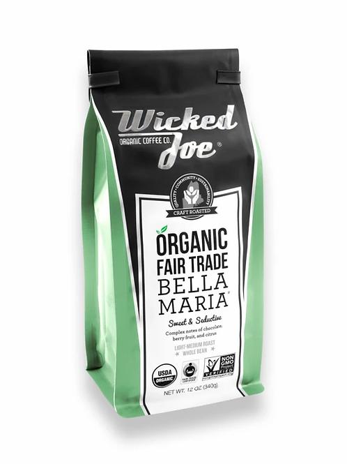 Wicked Joes Organic Bella Maria Whole Bean Coffee