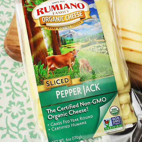 Rumiano Organic Pepper Jack Slices