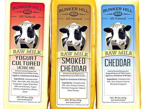 Bunker Hill Raw Milk Cheese - 2 Flavor Options
