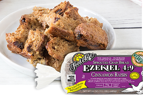 Food For Life Organic Ezekiel 4:9 Sprouted Grain Cinnamon Raisin Bread