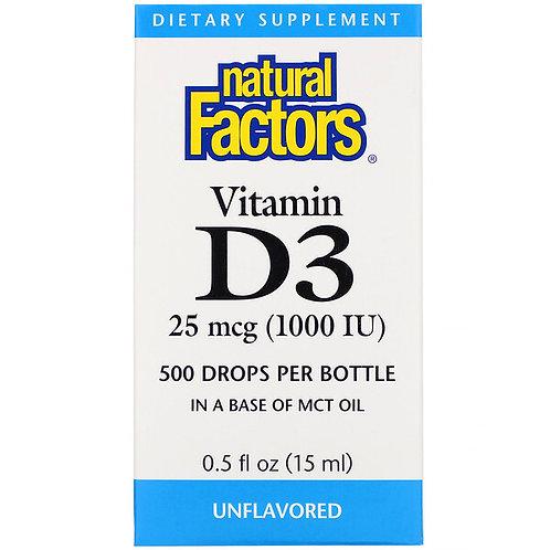 NF Vitamin D3 Unflavored Drops 1000 IU