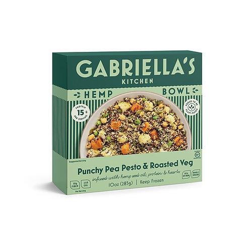 Gabriellas Kitchen Hemp Bowls - Punchy Pea Pesto & Roast Veg
