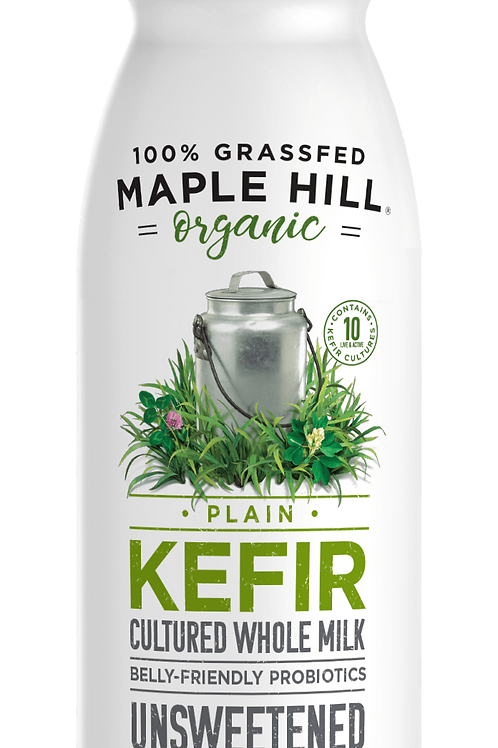 Maple Hill Organic Plain Kefir - Unsweetened, Grassfed, Whole Milk