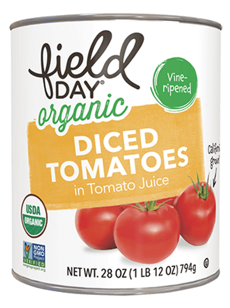 Field Day Organic Diced Tomatoes in Tomato Juice