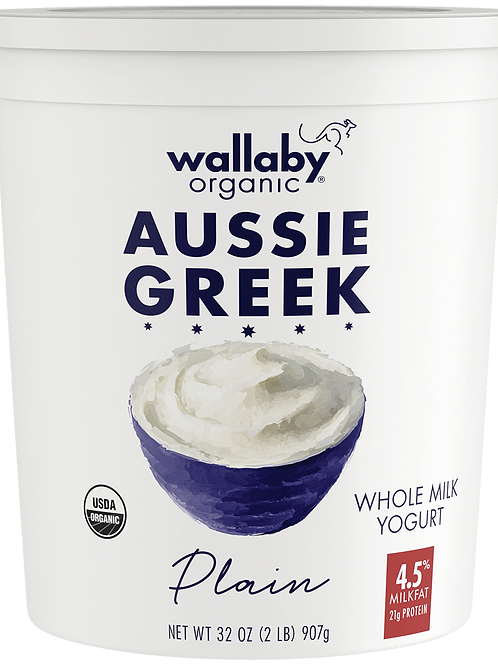 Wallaby Organic Whole Milk Greek Yogurt