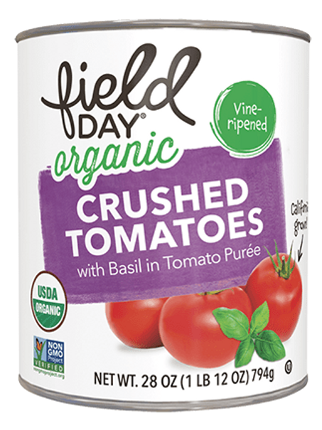 Field Day Organic Crushed Tomatoes with Basil