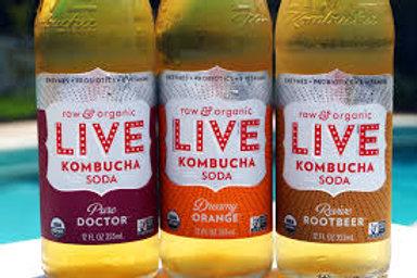 Live Kombucha Soda - Multiple Flavor Options