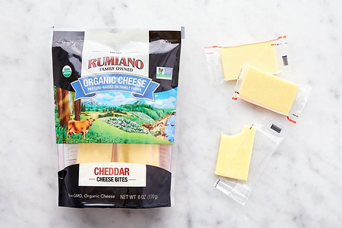 Rumiano Organic Cheddar Cheese Bites