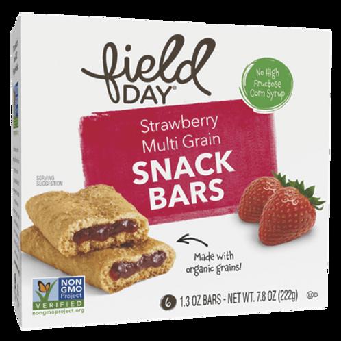 Field Day Strawberry Multi Grain Snack Bars - 6 pack