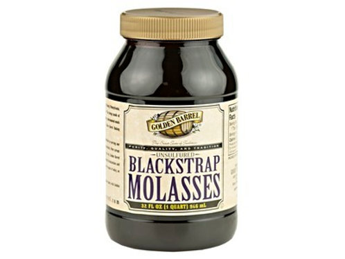 Golden Barrel Unsulphured Blackstrap Molasses - 32oz