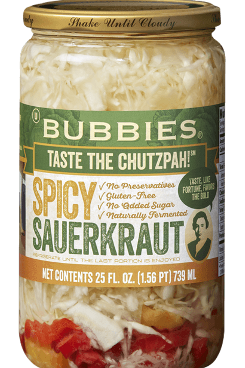 Bubbies Spicy Sauerkraut - 25oz