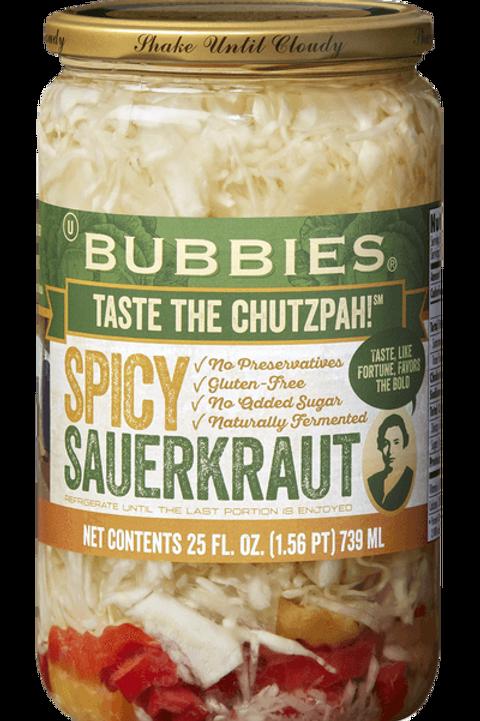 Bubbies Spicy Sauerkraut - 25oz