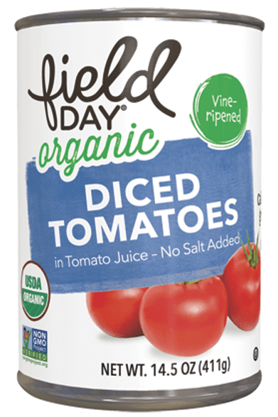 Field Day Organic Diced Tomatoes in Tomato Juice - No Salt Added