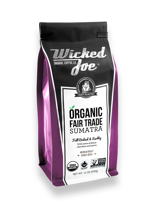 Wicked Joes Organic Sumatra Whole Bean Coffee