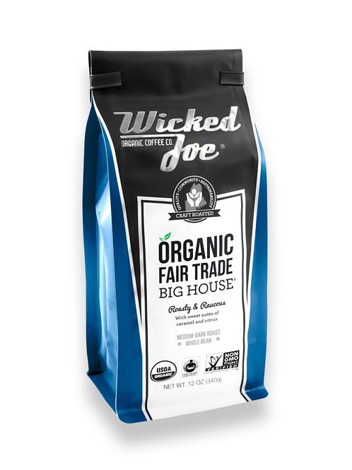 Wicked Joes Organic Big House Whole Bean Coffee
