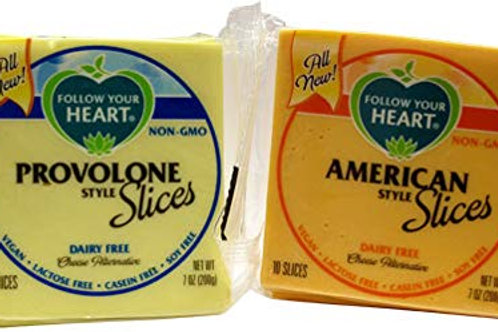 Follow Your Heart Cheese Alternative Slices - 2 Flavor Options
